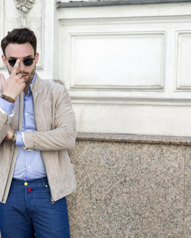 New High Style Loro Piana Jacket Kiton Jeans